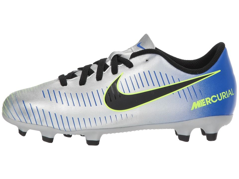 506e7f0bc Nike Kids Mercurial Vortex III Neymar Firm Ground Soccer Cleat (Toddler/Little  Kid/Big Kid) Kids Shoes Racer Blue/Black/Chrome/Volt