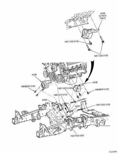 Ford Motorcraft Left Engine Mount Isolator V8 5 4 Liter 4wd A T Xl7z 6038 Ca Ebay Motorcraft Ford Excursion 4wd
