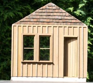 Materials For Scale Models And Dollhouses Doll House Wood Siding Exterior Putz Houses