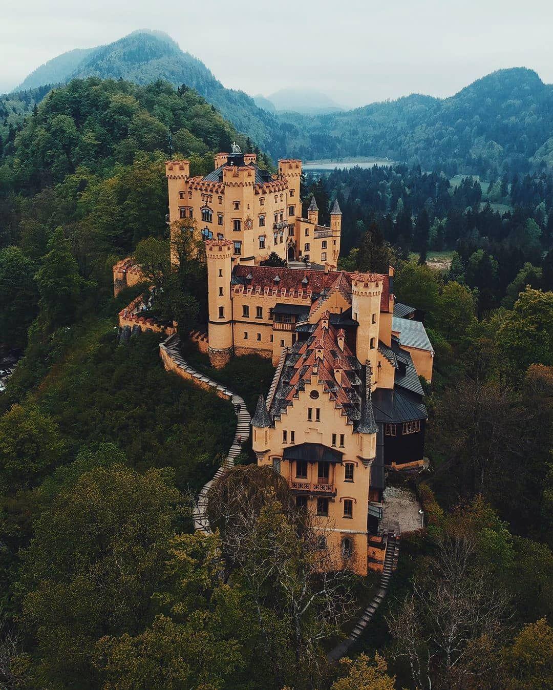 """Castles In The World on Instagram: """"Hohenschwangau Castle Germany �� - #repost @mathiaschu - #schloss #castle #castello #castillo #castelo #zamek #chateau #germany #german…"""""""