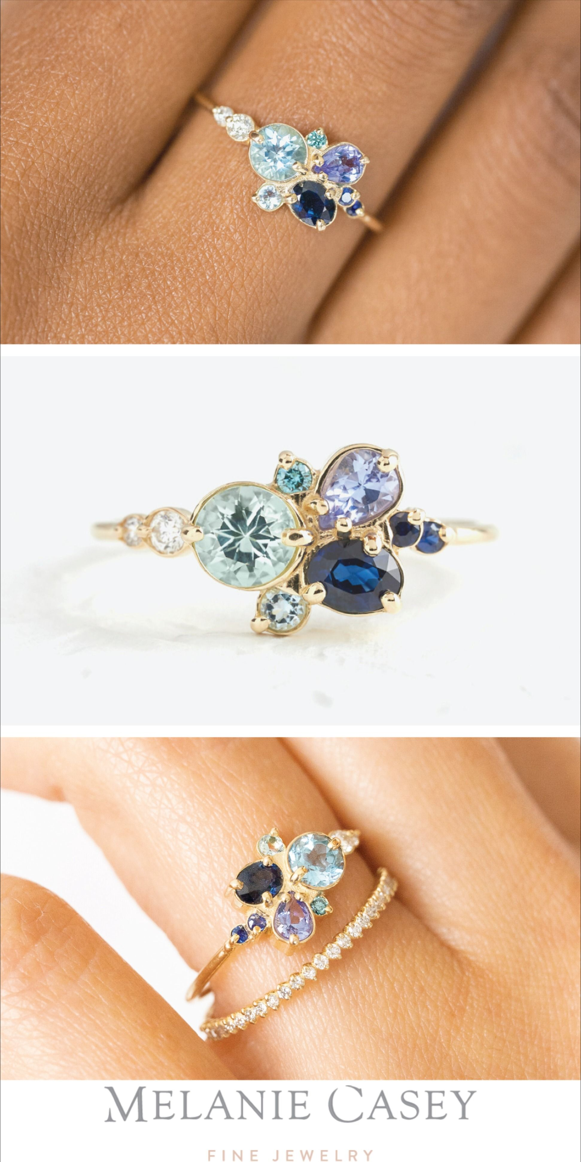 0.5CT Natural Round Cut Sapphire Center,14K Solid Gold Female Ring,Minimalist Style Blue Gem Engagement Ring,Anniversary Ring,Promise Ring