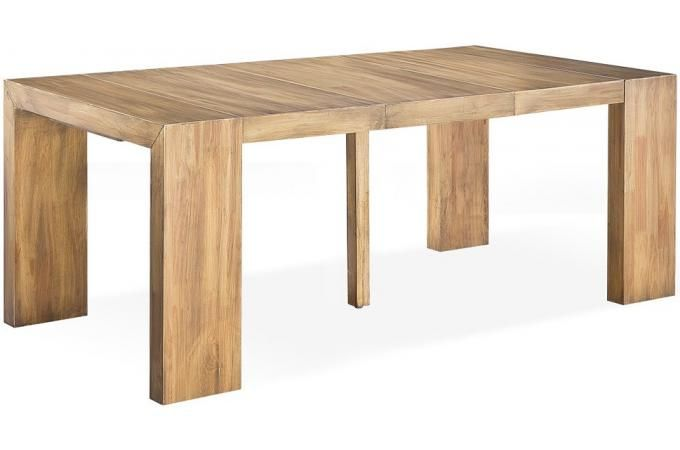 table console extensible bois massif cappucino 3 rallonges allo