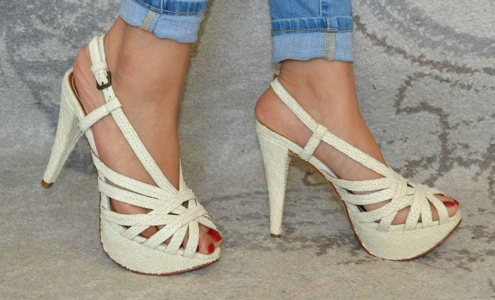 Stunning High Heels Platform Stilletto ankle strap Size 5/38 Brand New In Box