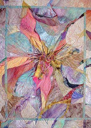 More Beautiful Art Via Quilting Love It Art Quilts Landscape Quilts Textile Art