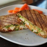 Grilled Chicken Panini With Avocado and Salsa | Green Lite Bites