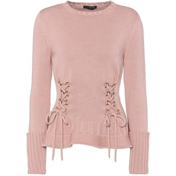 c69bf058230 Alexander McQueen Lace-Up Wool Sweater ( 1