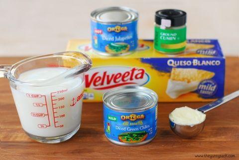 Velveeta Queso Blanco Dip Recipe White Cheese Dip Cheese