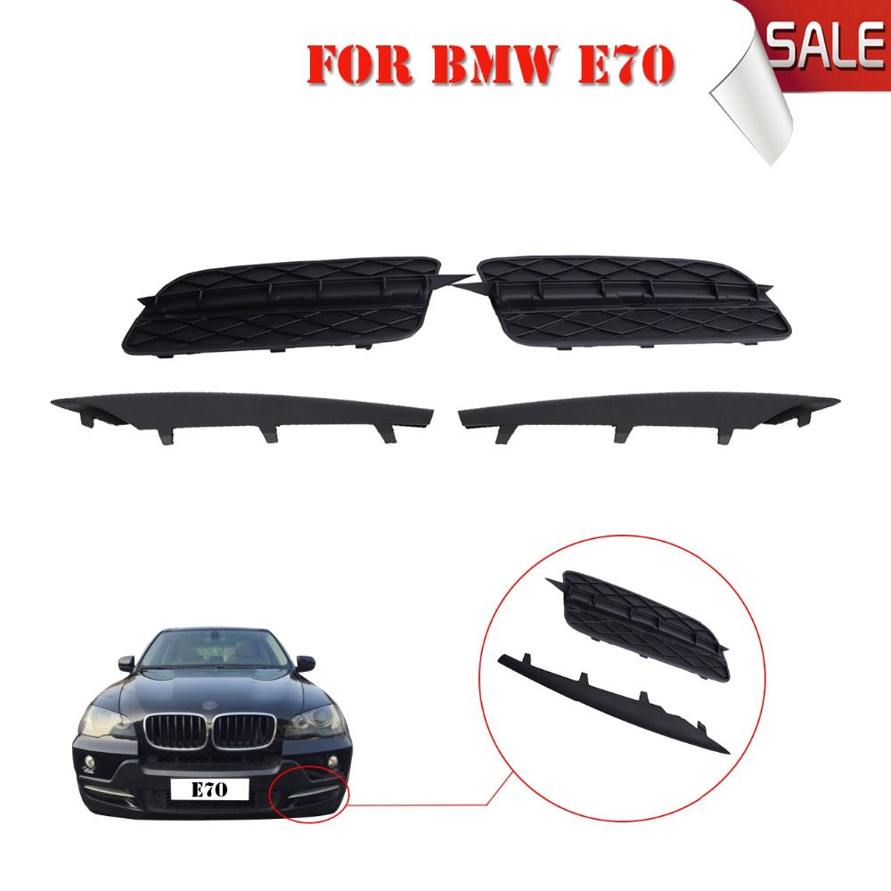 2x Abs Car Front Bumper Lower Grill Grille Grid Set With Trim Molding For Bmw X5 Xdrive Sprot E70 2007 2008 2009 2010 W135 Bmw Car Front Bmw X5