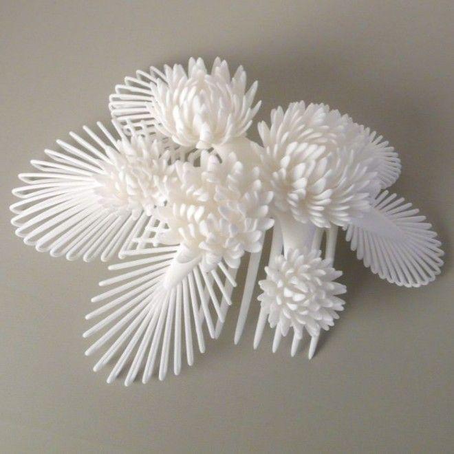 3Dプリンターで作られたかんざし キクー