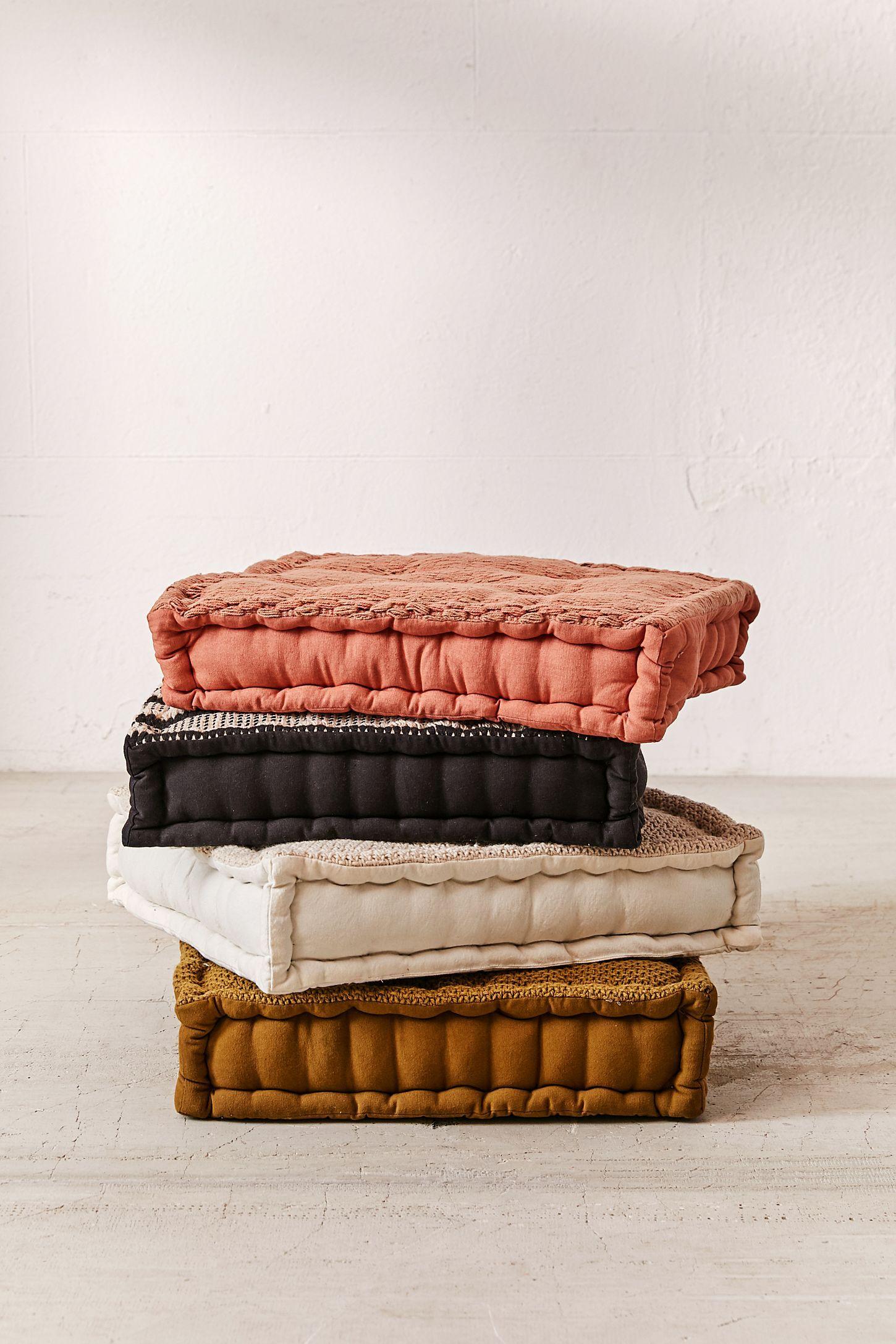 Knit Floor Pillow In 2020 Floor Pillows Boho Floor Pillows Large Floor Pillows
