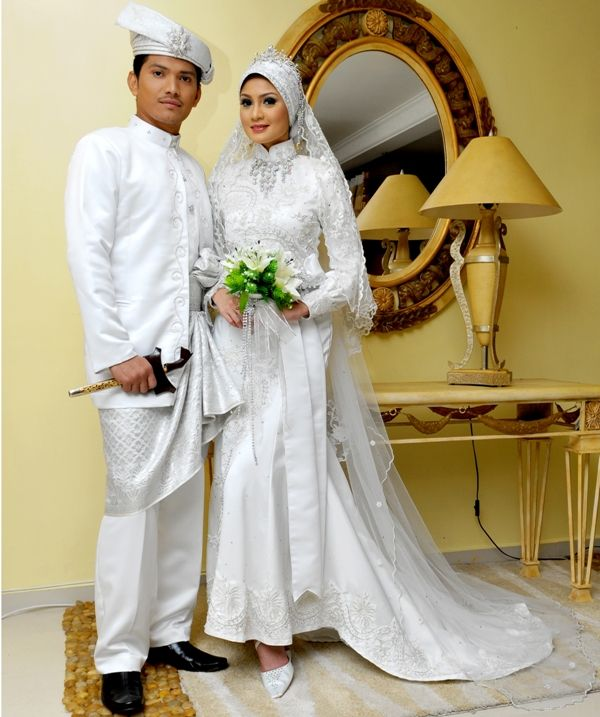 Model Baju Pengantin Muslim Warna Putih Model Busana Pinterest