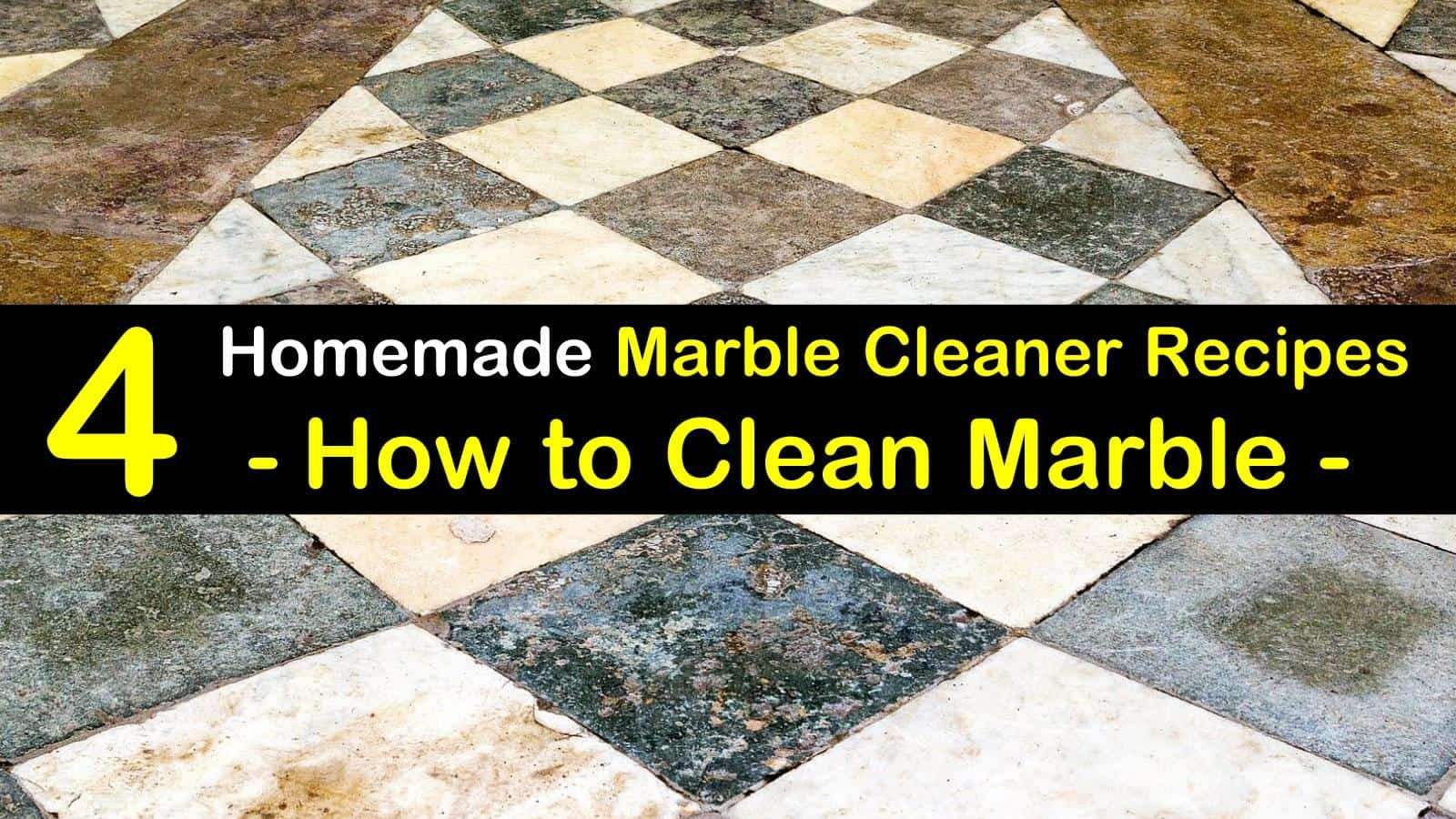 4 Diy Ways To Clean Marble Cleaning Marble Floors Cleaning