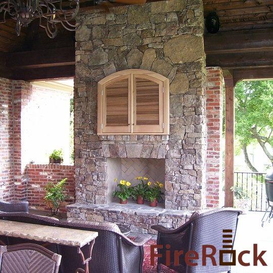Firerock Outdoor Fireplace Kit Fireplaces Firepits