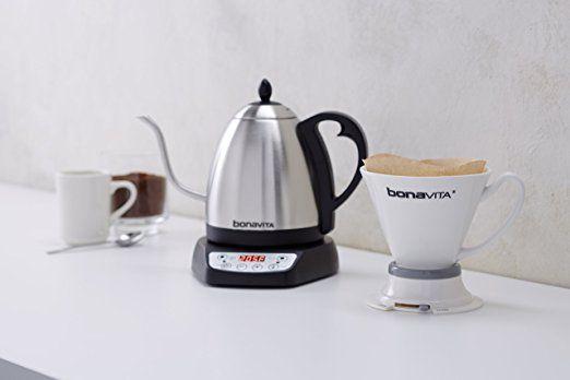 Bonavita Electric Kettle, Gooseneck Variable Temperature, 1.0L: Kitchen & Dining