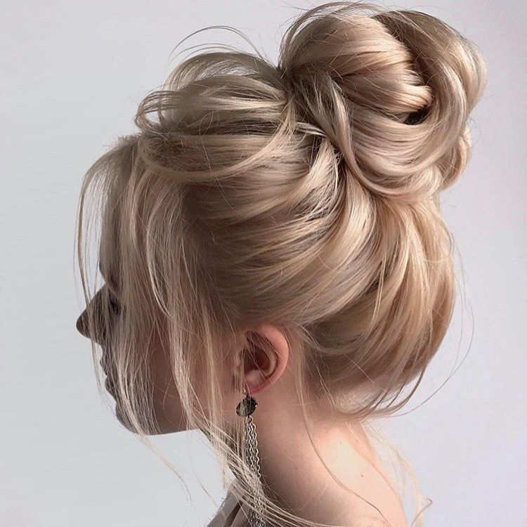 You Your Wedding On Instagram This Loose Bun Would Be So Chic As A Wedding Updo Repost Cute Bun Hairstyles High Bun Wedding Hairstyles High Bun Hairstyles