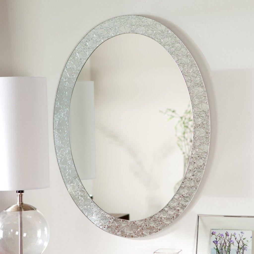 Round Framed White Wall Mirror   http://drrw.us   Pinterest ...