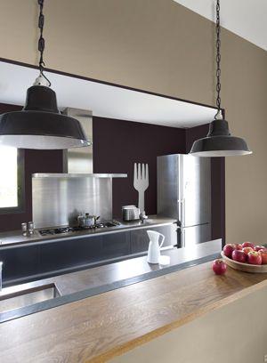 Idées Couleur Taupe Pour Déco Chambre Et Salon Refaire Sa - Peinture rouge cuisine pour idees de deco de cuisine