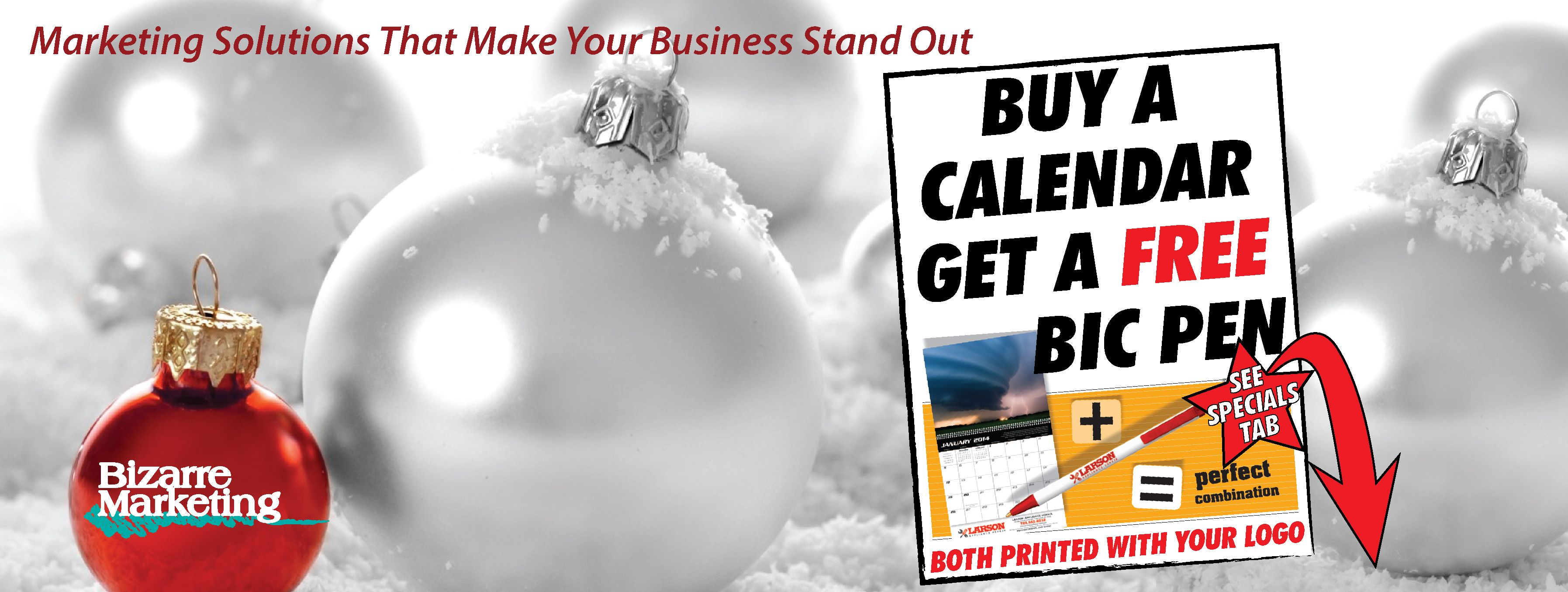Buy A Calendar Get A Free Bic Pen Both With Your Logo