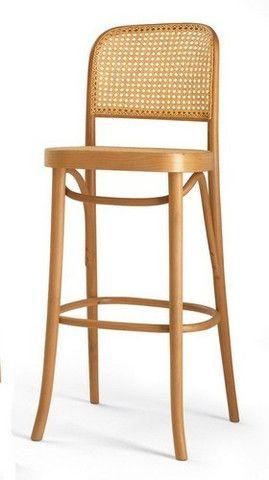 Luxury Bentwood Bar Stools Cane Seat