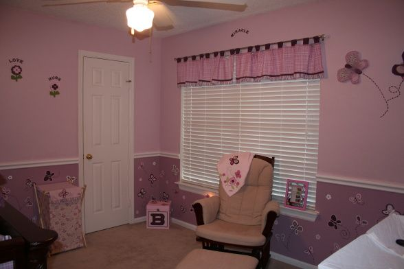 Beautiful Lavender and Pink Nursery