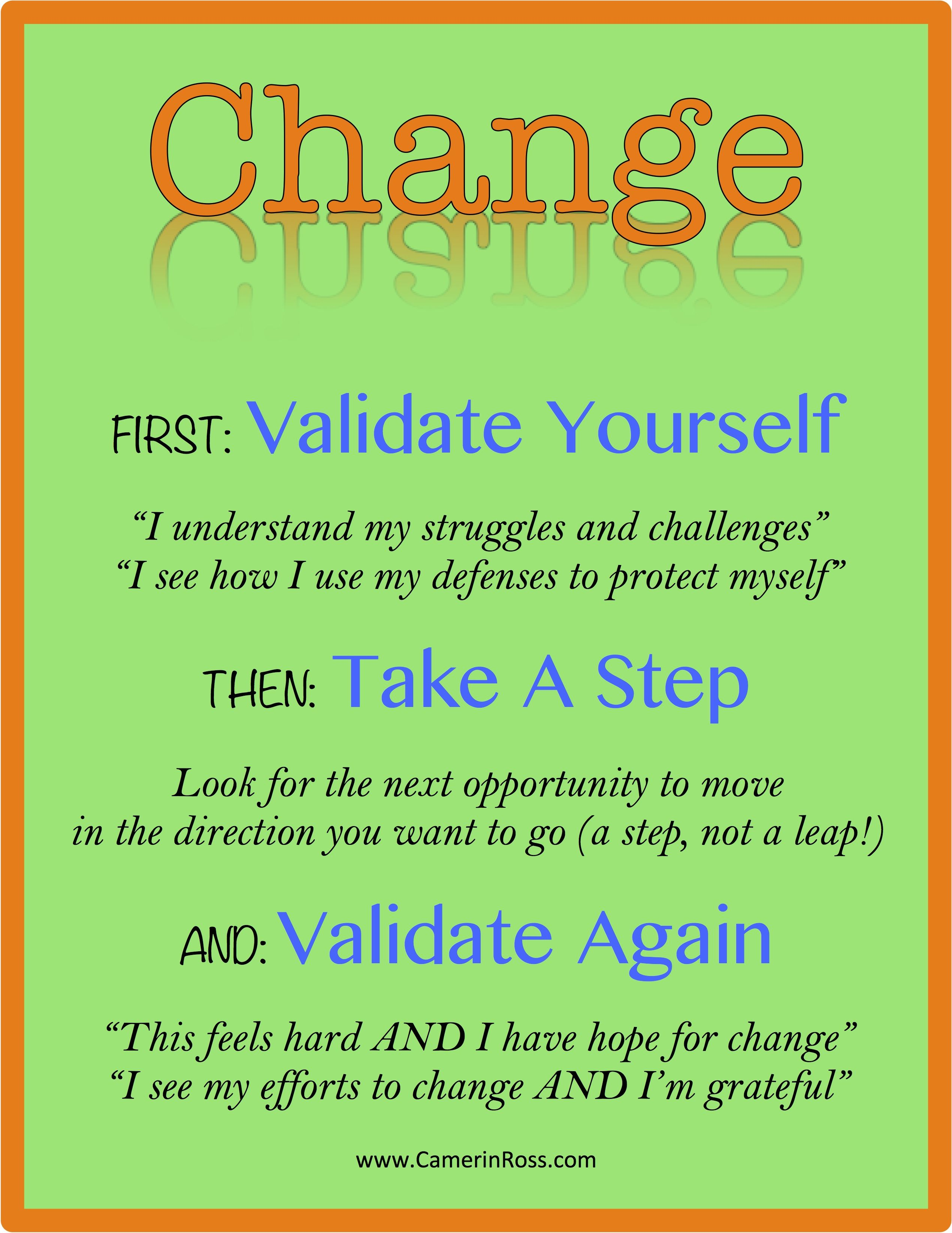 To Change Validate Take A Step And Validate Again