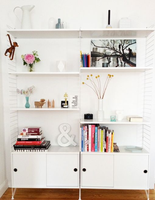 via 23qm still white string system ampersand kay bojesen scandinavian homes. Black Bedroom Furniture Sets. Home Design Ideas