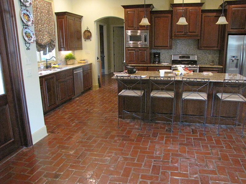Do Not Like Indoor Brick Pavers Google Search Brick Floor Kitchen Brick Kitchen Brick Flooring