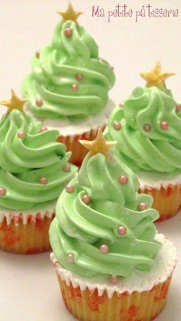postrecitos navideños.. cupcake tree