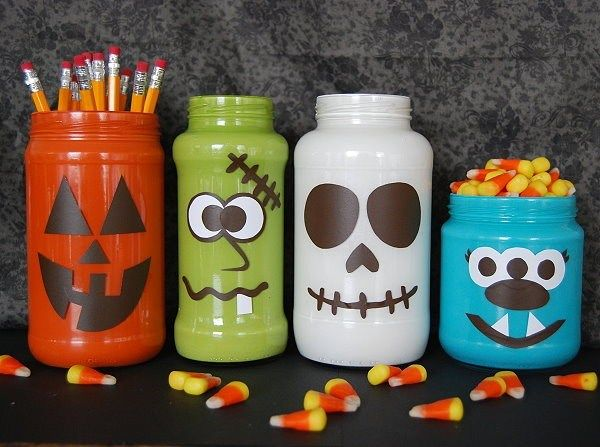 Monsterously Crazy Cute Halloween Jars Craft, Holidays and