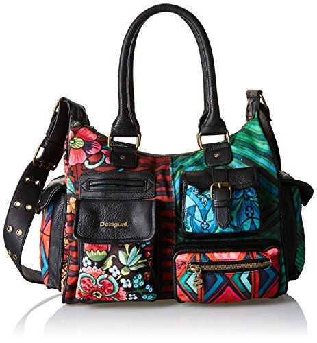 Women S Top Handle Handbags Desigual Bag London Medium Ikara Red Shades Check This Awesome Product By Going To The Link Top Handle Handbags Bags Daily Bag