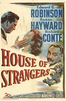 House Of Strangers Wikipedia The Free Encyclopedia Film Noir Movie Posters Vintage Movie Posters