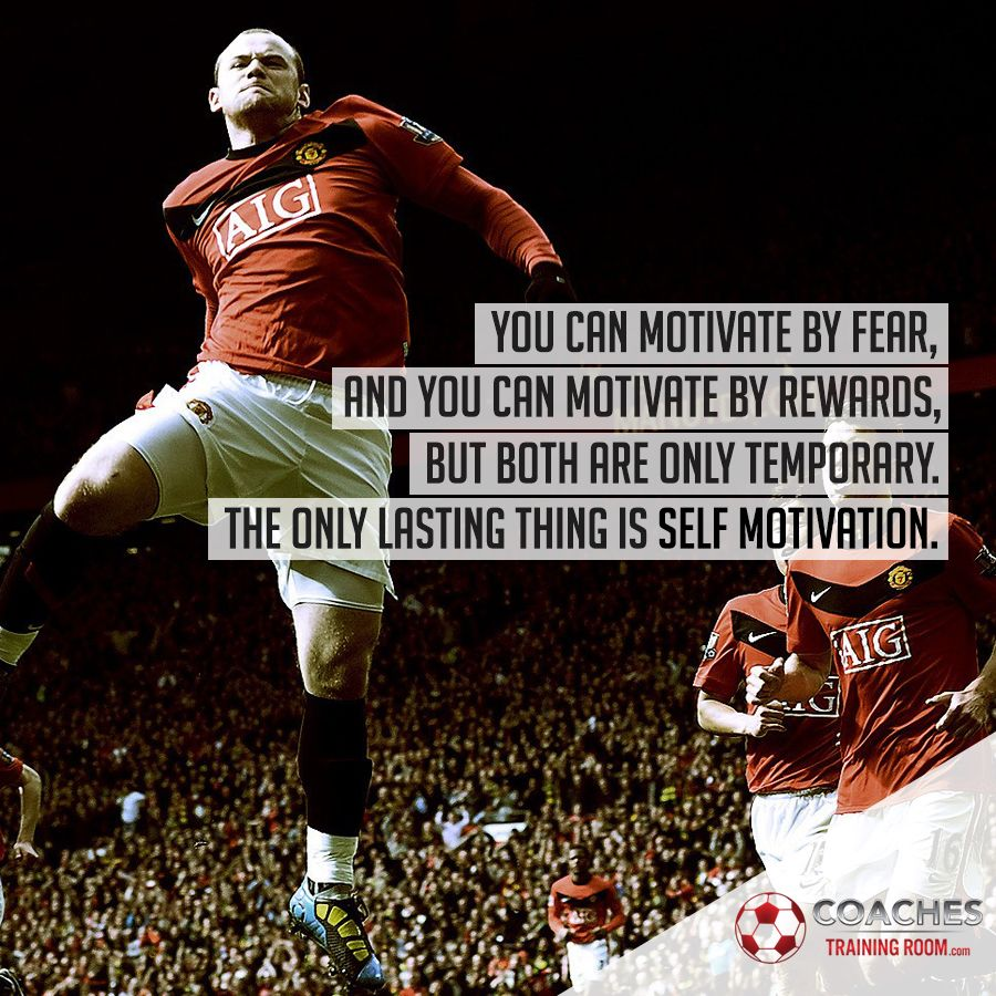 Persistence Motivational Quotes: Wayne Rooney Manchester United Soccer Photo Image