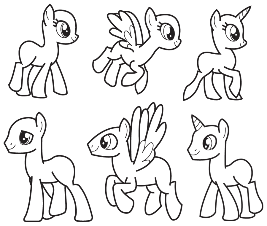 My Little Pony Template | My Little Template By Coptermode Deviantart Com On Deviantart My