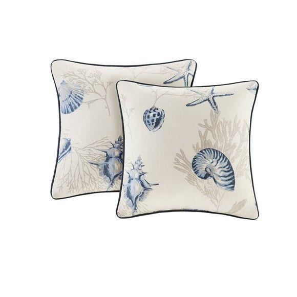Madison Park Bayside Starfish And Seashell Pillows Set Of 40 Products Amazing Seashell Pillows Decorative