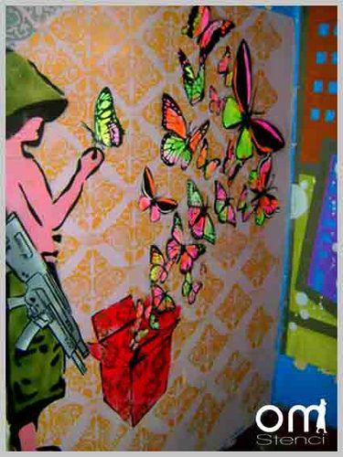 Muro Por La Paz Art Painting Stencils