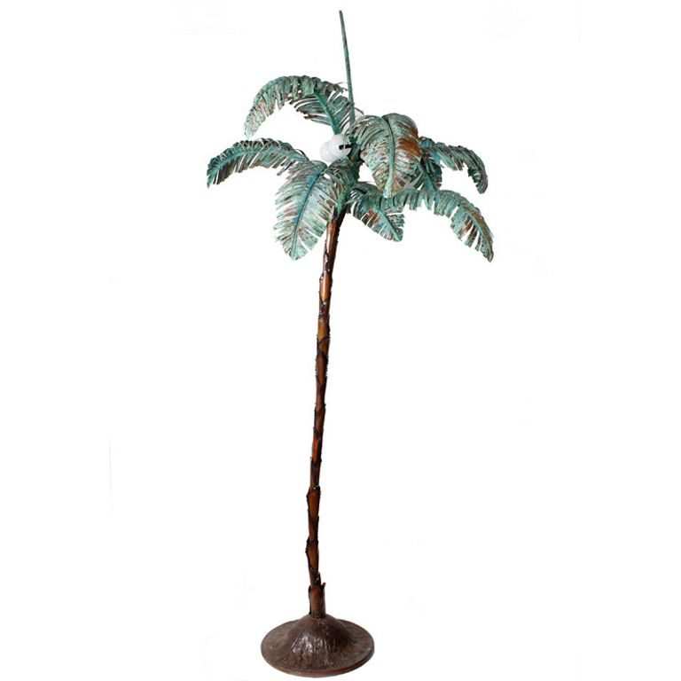 Custom Copper Palm Tree Floor Lamp Tree Floor Lamp Floor Lamp Copper Floor Lamp