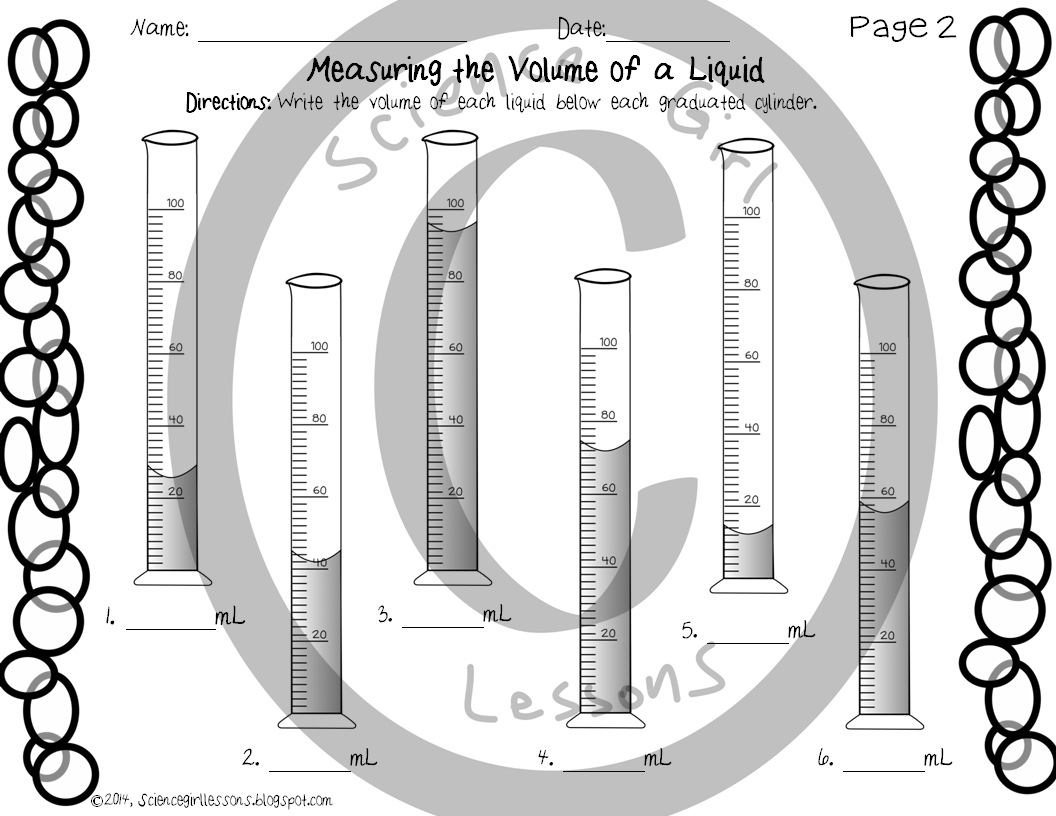 Graduated Cylinders Measuring The Volume Of A Liquid Assessment Teaching Graduated Cylinders Teaching Kids