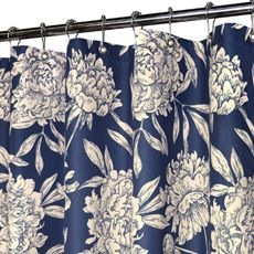 Park B SmithR Peony Navy 72 X WaterShedR Shower Curtain