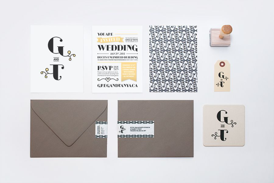 Wedding Invitation - Tanya Duffy – Graphic Designer | Wedding ...