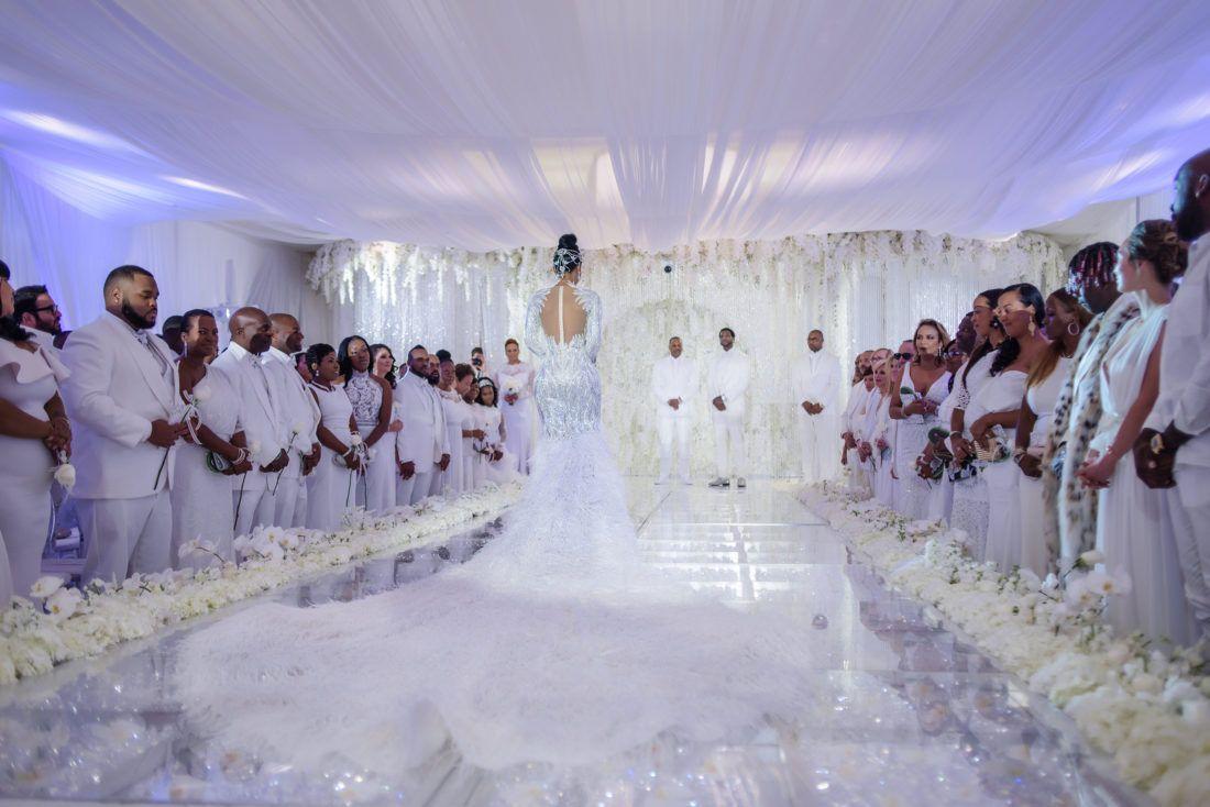all white wedding! Keyshia Ka\u0027oir + Gucci Mane\u0027s Wedding
