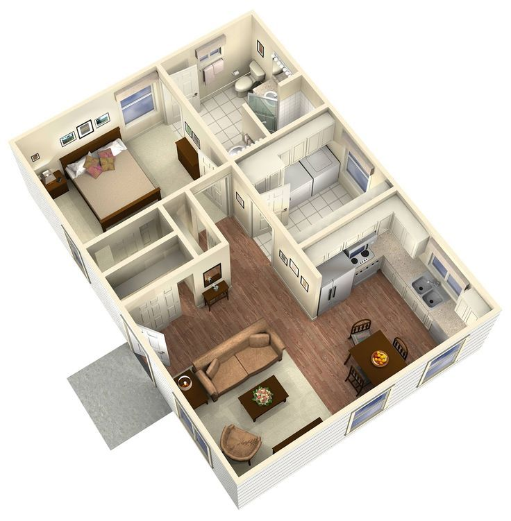 Granny pod floor plans google search dream home for A frame house cost