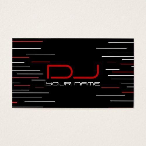 Unique DJ Business Card Dj business cards