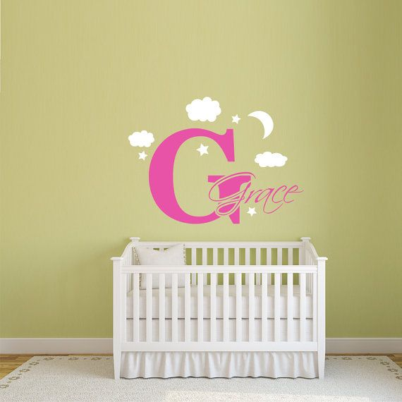 Personalized Baby Name Wall Decal Art Letters Decor Nursery | For ...