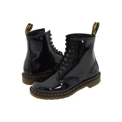 119 Dr Martens 1460 Lace Up Boots Black Patent Black Patent Boots Black Patent Leather Boots Black Boots