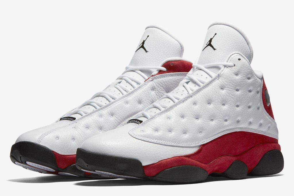 jordan shoes white red