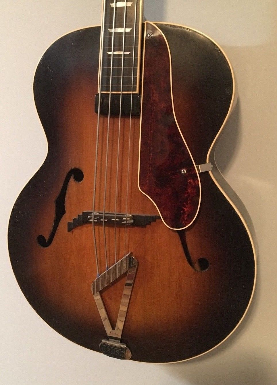 Gretsch Archtop Synchromatic Acoustic Bass Fretless 1950 S Musical Instruments Gear Guitars Basses Bass Guitars Ebay Bajo Acustico Bajos
