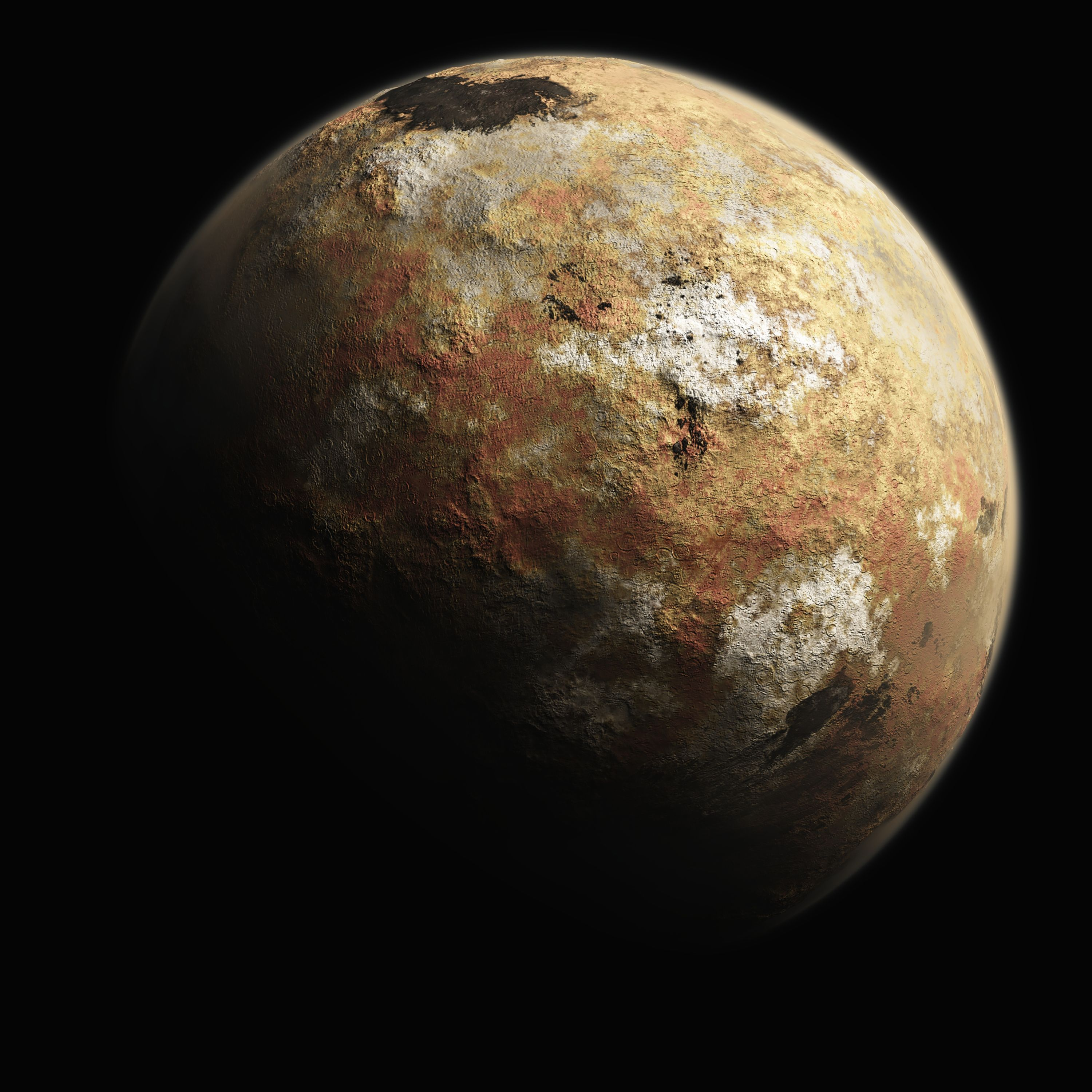 pluto and earth - HD3000×3000