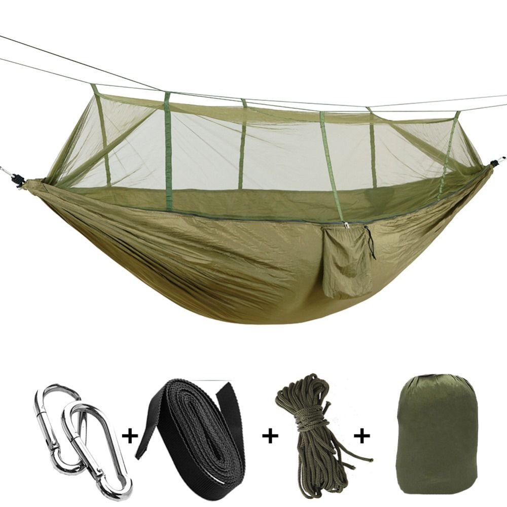 1 2 person outdoor mosquito   parachute hammock camping hanging sleeping bed swing portable double 1 2 person outdoor mosquito   parachute hammock camping hanging      rh   pinterest
