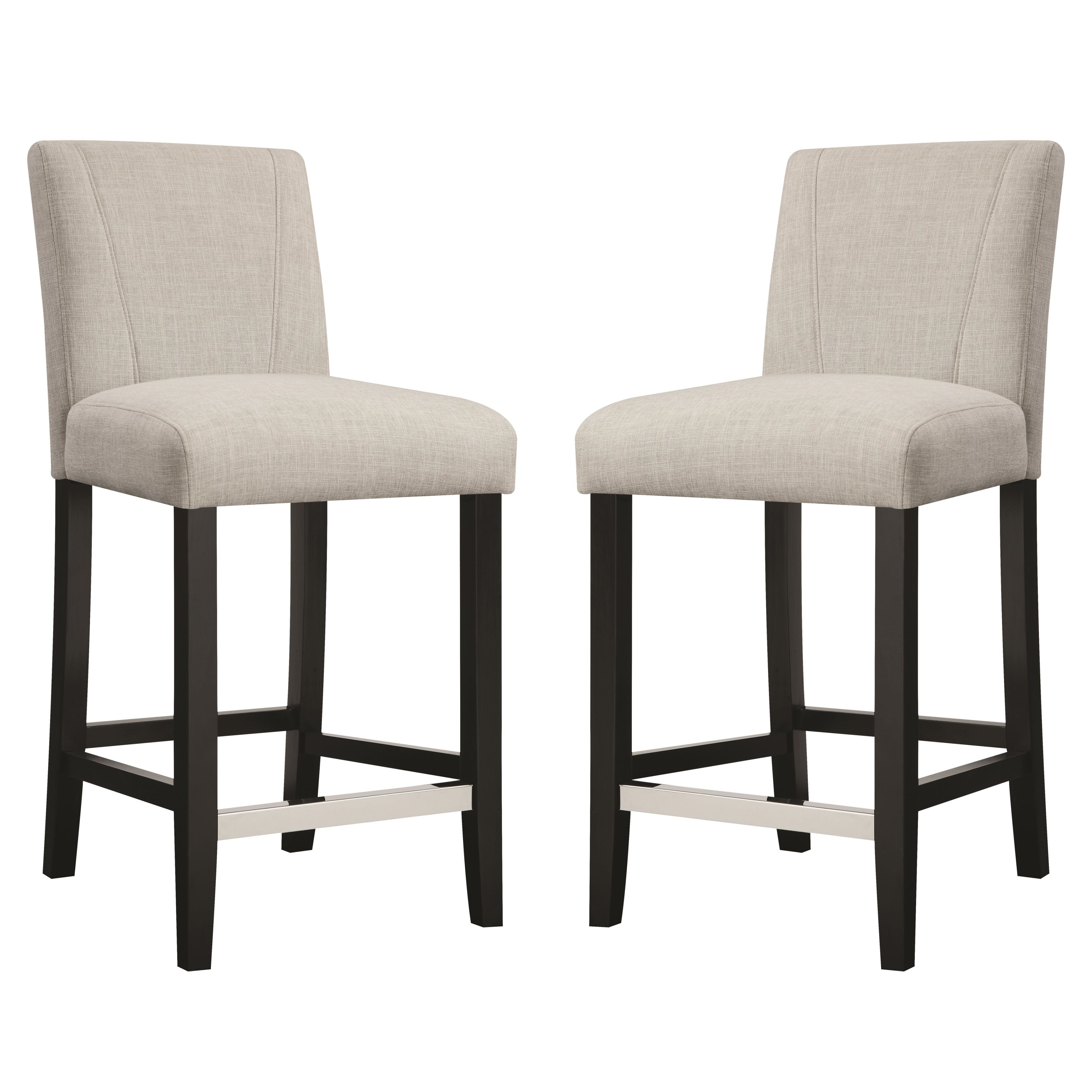 Cool Ramiro Fabric Upholstered Counter Height Stools Set Of 2 Gmtry Best Dining Table And Chair Ideas Images Gmtryco