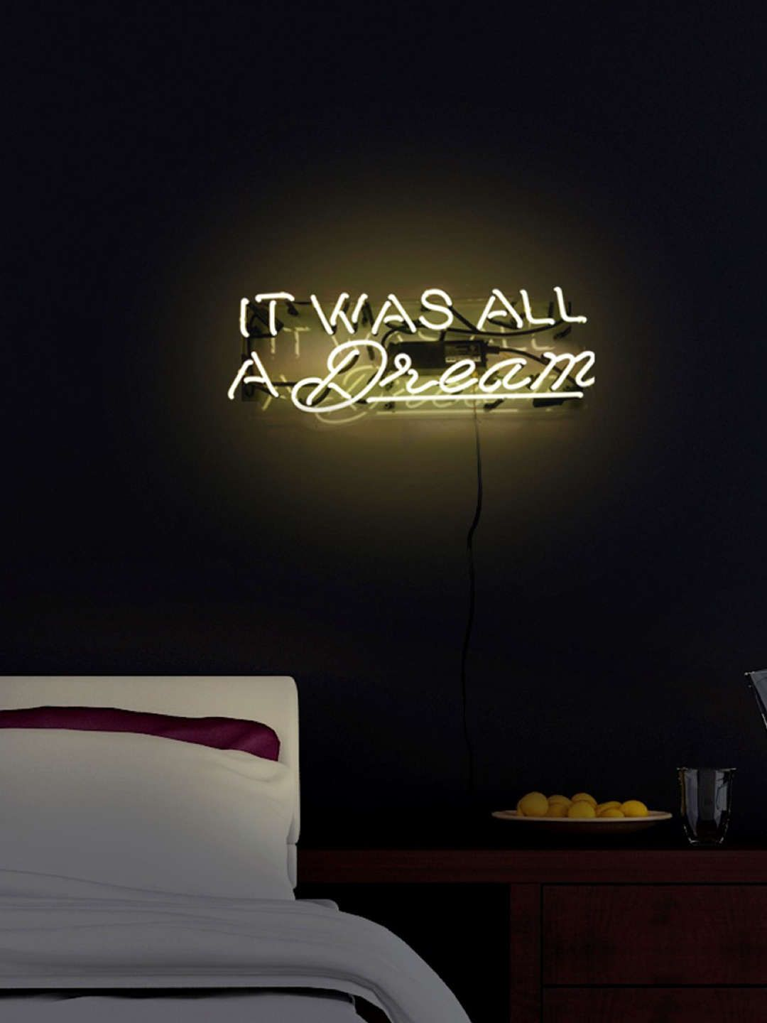 It Was All A Dream Neon Sign Glamorous It Was All A Dream Neon Sign  Lights Inspiration Design